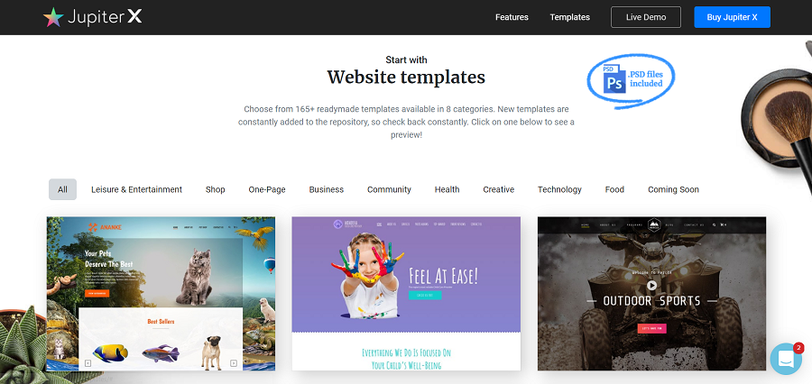 jupiter wordpress website templates