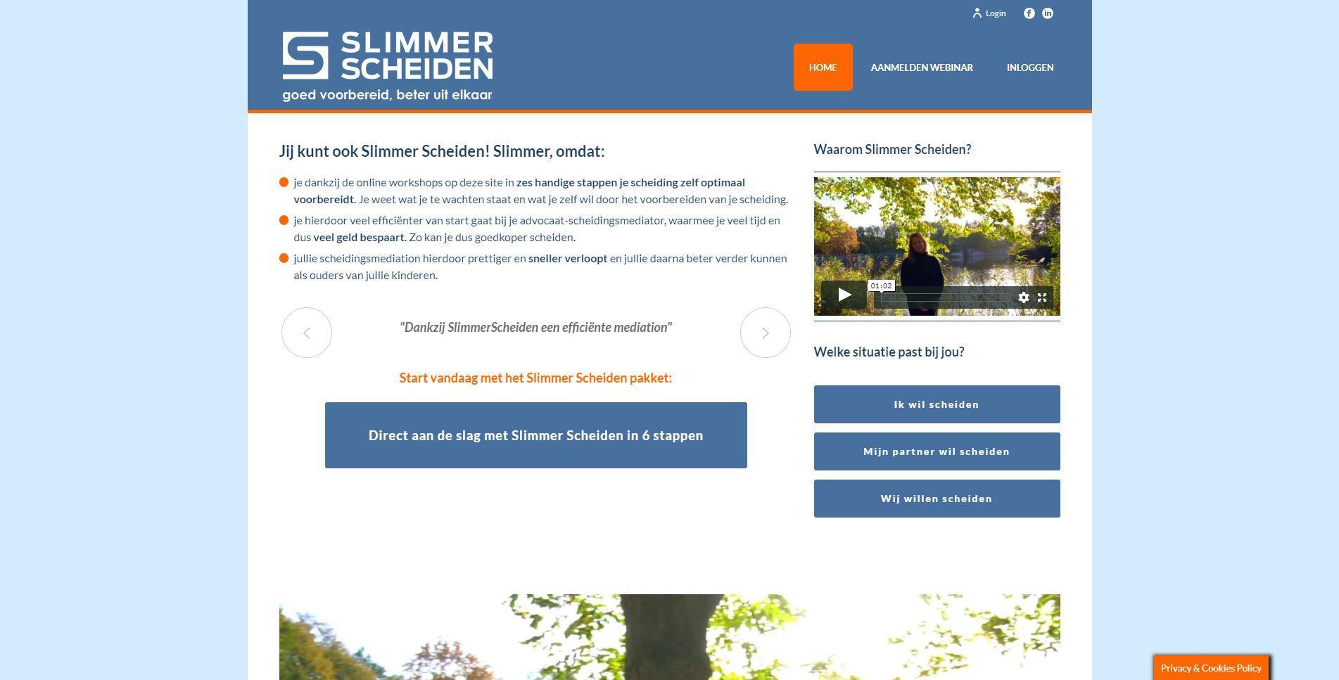 website met online e-learning programma