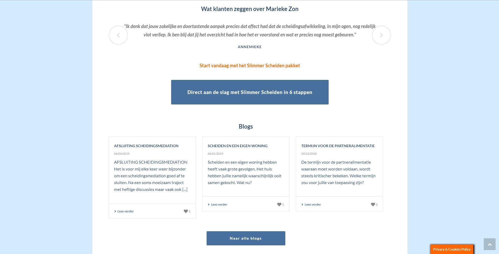 Wordpress website met online programma voor members