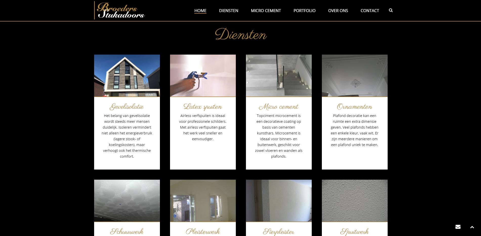 Website voor een stukadoorsbedrijf