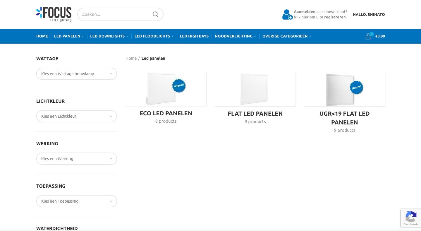 website voor lampenbedrijf