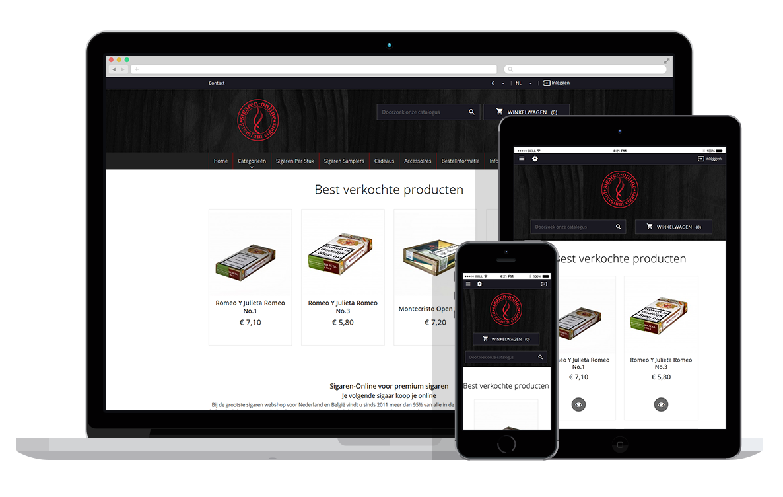 PrestaShop webshop voor online sigaren winkel
