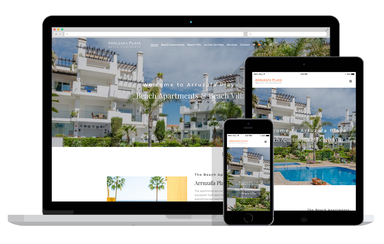 Wordpre3ss website voor vakantiehuis in Spanje