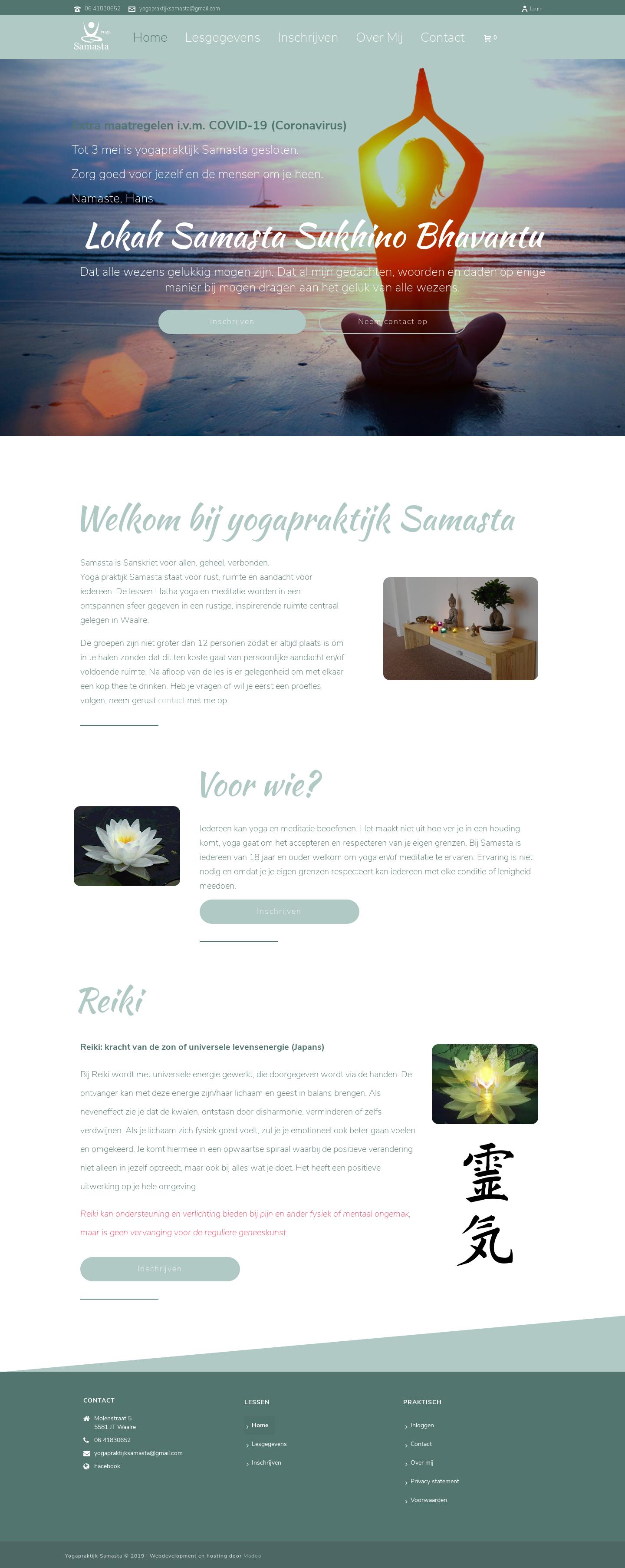 website voor yoga praktijk in wordpress